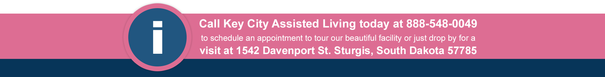 Sturgis' Key City Assisted Living - South Dakota - retirement community - residential care - location address - testimonial - 1542 Davenport Street Sturgis South Dakota zip 57785 phone 888-548-0049